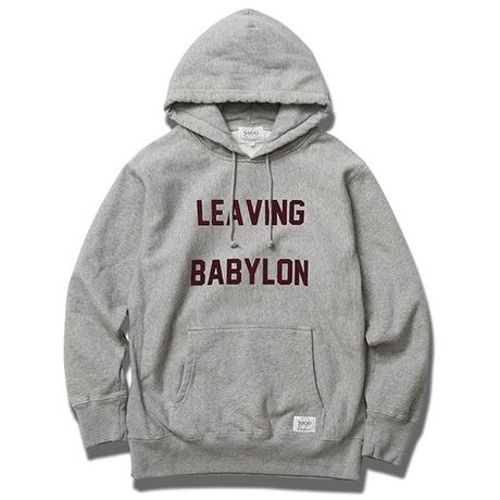 FUCT/SSDD 6903 LEAVING BABYLON PULLOVER HOODED (H.GRAY)