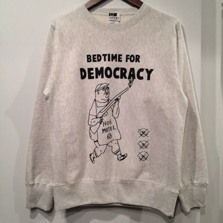 """LIFERS L-004 """"DEMOCRACY"""" SWEAT (OATMEAL)"""