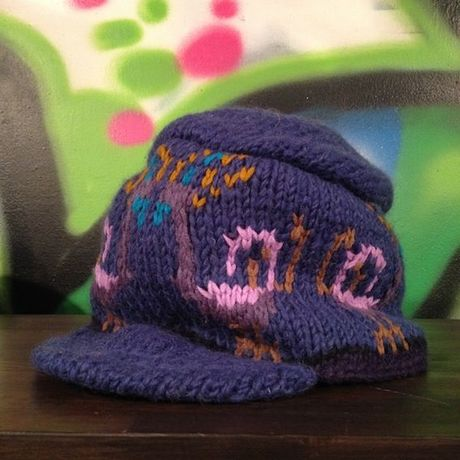 """mash Re-19 """"Peacock"""" Knit Cap (NAVY)"""