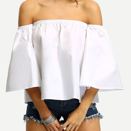 California breeze  R /Off-The-Shoulder Bell Sleeve  Blouse