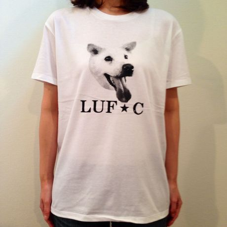 LUF★C DOG SMILE T-Shirt WHITE animal-T
