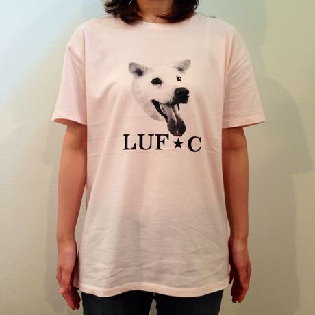 LUF★C DOG SMILE T-Shirt PINK animal-T
