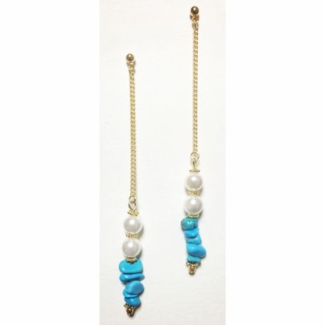 Turquoise long chain pierce