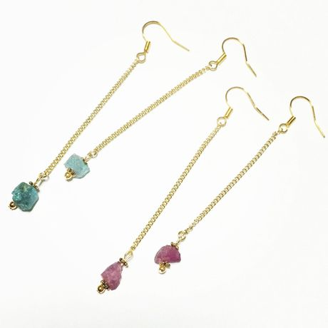 Gemstone long Pierce