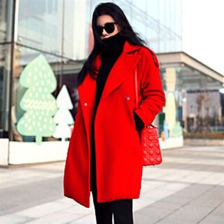 LM lineteller coat red