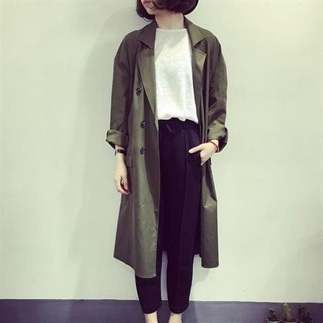 LM double  breast trench coat
