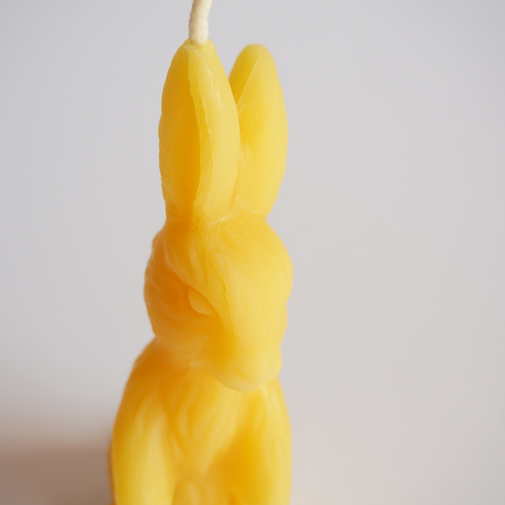 bunny candle yellow