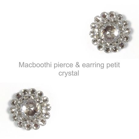 【011】Macboothi pierce & earring petit / crystal