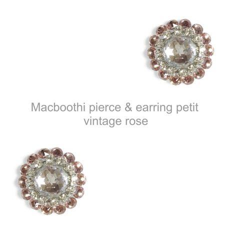 【017】Macboothi pierce & earring petit / vintage rose