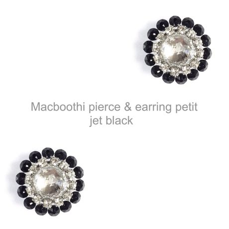 【020】Macboothi pierce & earring petit / jet black