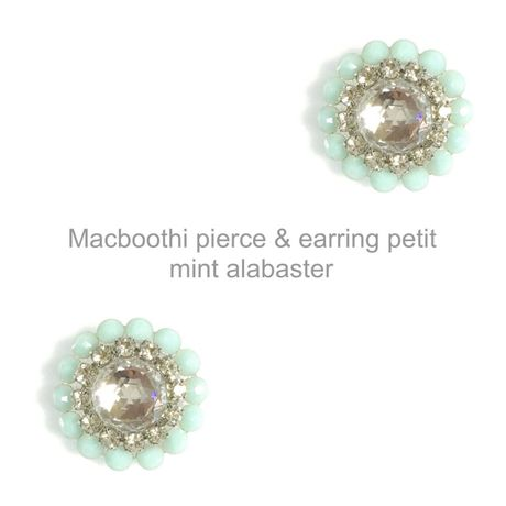 【016】Macboothi pierce & earring petit / mint alabaster