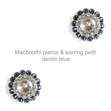 【018】Macboothi pierce & earring  petit / denim blue