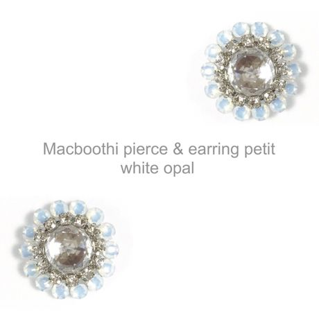 【012】Macboothi pierce & earring petit / white opal