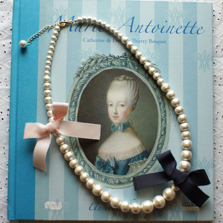 Cottonpearl & Ribbon Necklace NV/BPK