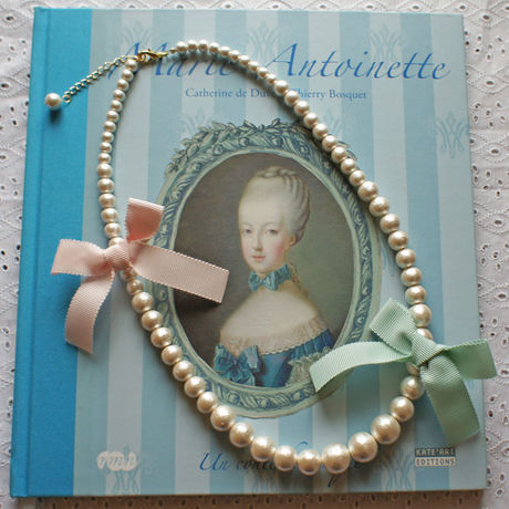 Cottonpearl & Ribbon Necklace BMT/BPK