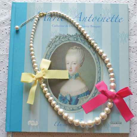 Cottonpearl & Ribbon Necklace FPK/BYE