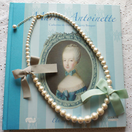 Cottonpearl & Ribbon Necklace BMT/BGR