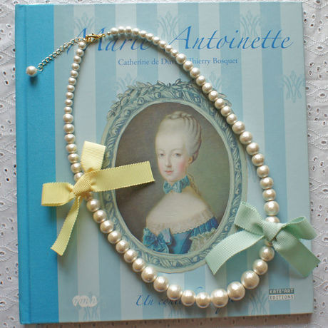 Cottonpearl & Ribbon Necklace BMT/BYE