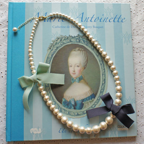 Cottonpearl & Ribbon Necklace NV/BMT