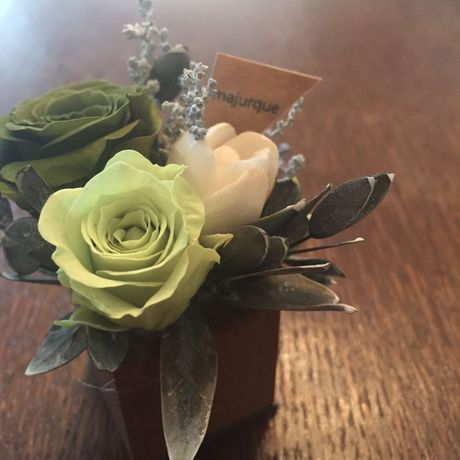 *natural Preserved Flowers Arrangement mini* flowers cake*MJ054