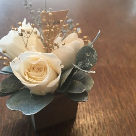 *natural Preserved Flowers Arrangement mini* flowers cake*MJ057