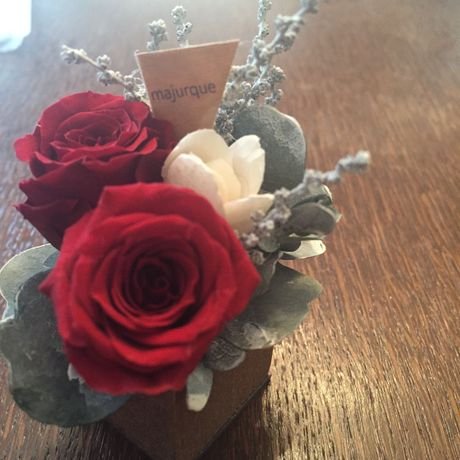 *natural Preserved Flowers Arrangement mini* flowers cake*MJ050
