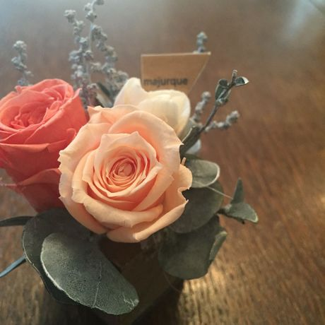 *natural Preserved Flowers Arrangement mini* flowers cake*MJ052