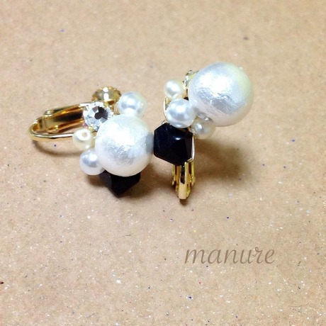 2way pearl earcuf.earring or piace