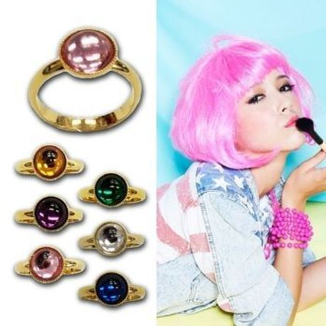 【SALE】COLORFUL STONE RING(¥810→¥648)