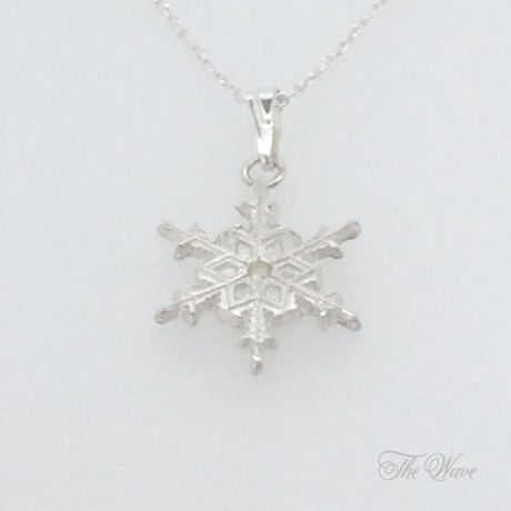 =SALE=Snowflake雪のネックレス - silver -