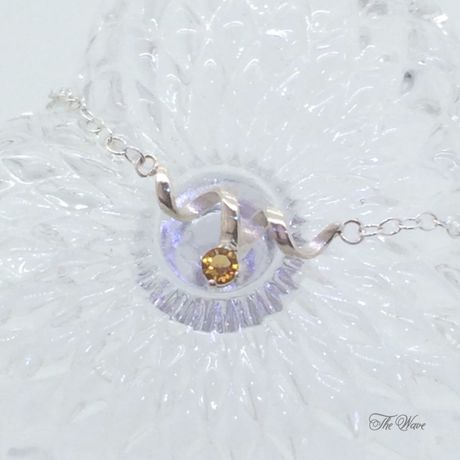 Citrine dew - 黄水晶のネックレスsilver -