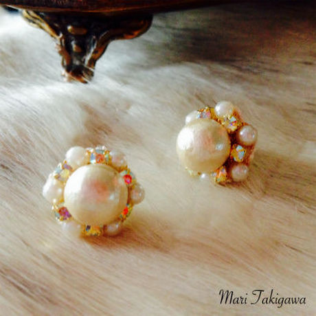 Cotton bijoux earrings
