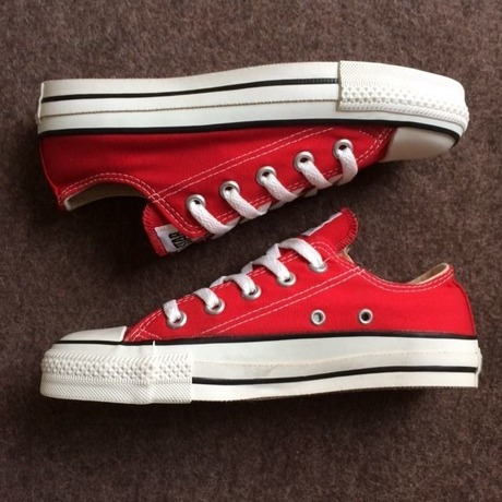 MADE IN USA CONVERSE ALL STAR LOW RED US4