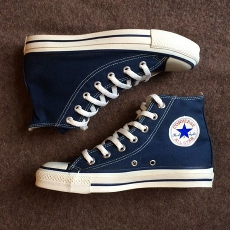 MADE IN USA CONVERSE ALL STAR HI NVY US5h