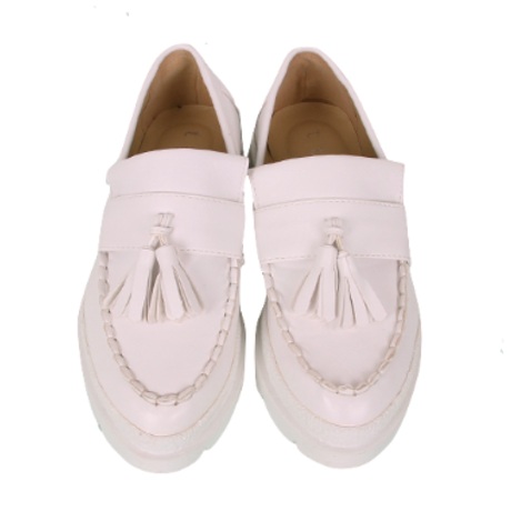 tassel allwhite shoes
