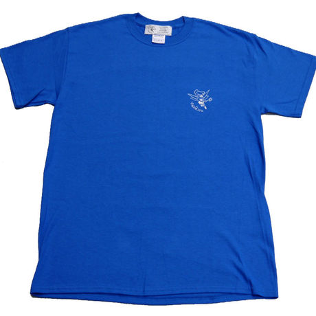 LOGO TEE-SHIRTS(BLUE/WHITE)