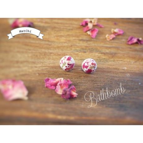 small bathbomb -rose-