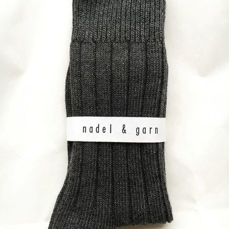 Women's HEATHER RIB SOCKS (CHACOLE)
