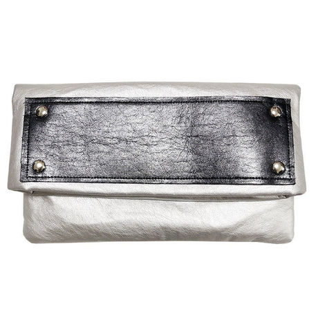metallic clutch SILVER     C123