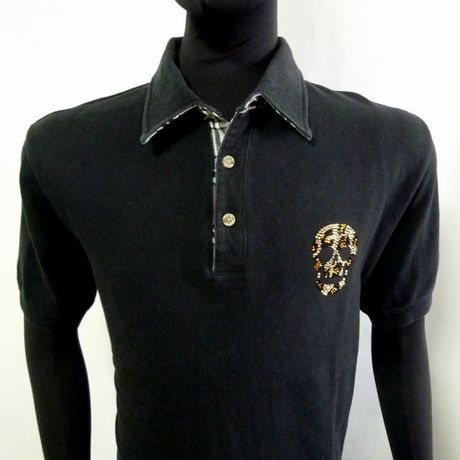 Leopard Skull POLO Black