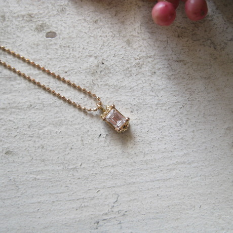 Frame Of Water Neckrace-水の額縁- K10 Pink Gold