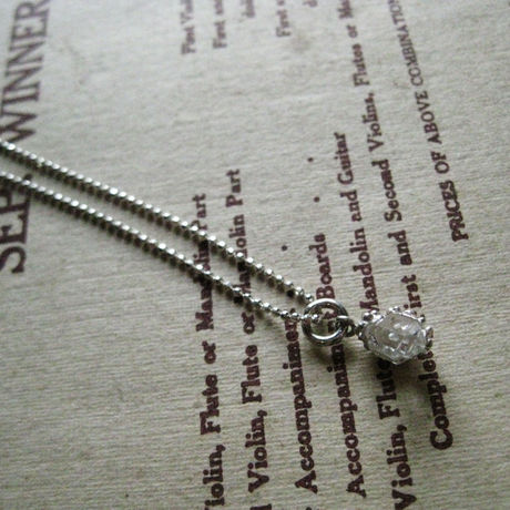 Herkimer diamond Necklace -ハーキマーダイアモンドネックレス-※オーダー制作可