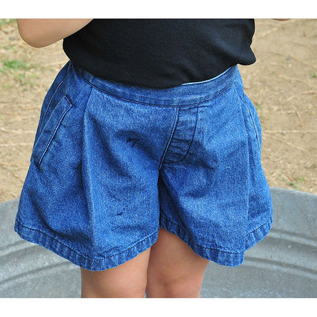 denim flare shortpants