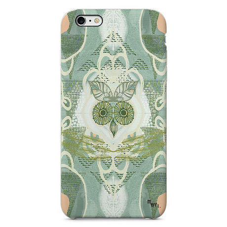 """""""Forest Owl"""" green フクロウ iPhone 6/6s/5/5s/6plus/6s plus Cover [ soft / hard ]"""