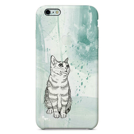 """""""Cat"""" ネコ -green- iPhone 6/6s/5/5s/6plus/6s plus Cover [ soft / hard ]"""