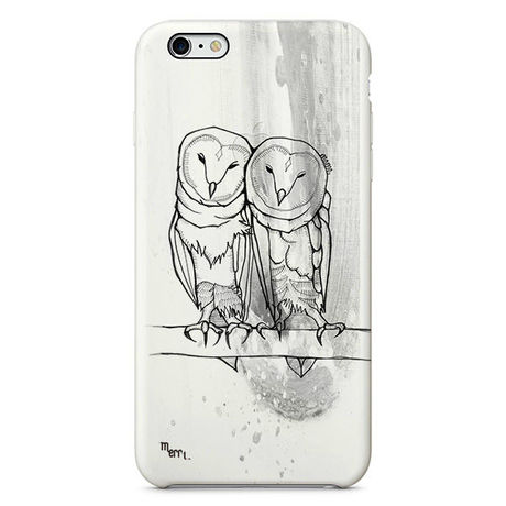 """""""Owl twins"""" white フクロウ iPhone 6/6s/5/5s/6plus/6s plus Cover [ soft / hard ]"""