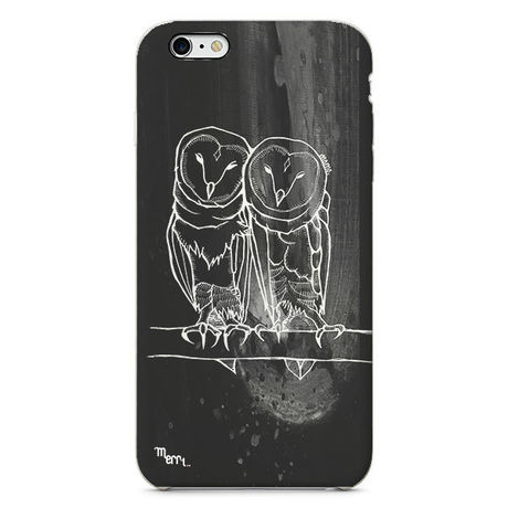 """""""Owl twins"""" フクロウ iPhone 6/6s/5/5s/6plus/6s plus Cover [ soft / hard ]"""