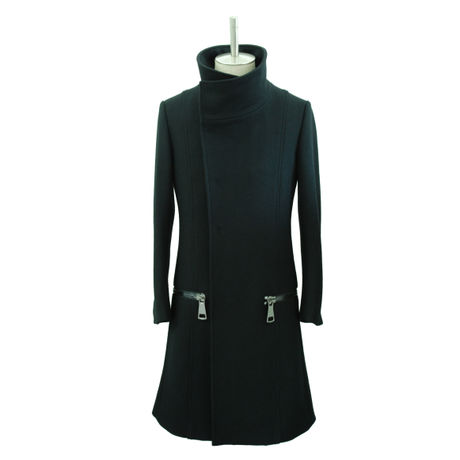 【Last1】High Collar Long Coat