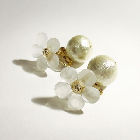 SNOW FLOWER pearl gold