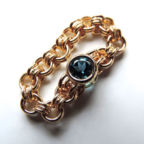 『 Eternal blue 』Ring by K14GF